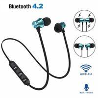 Bluetooth4.2 Stereo Earphone Headset Wireless Magnetic In-Ear Earbuds Headphone