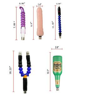 1/5 Attachments Fully Automatic Telescopic Sex Machine Adult Masturbator Kits
