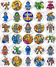 30 x Nexo Knights Party Edible Rice Wafer Paper Cupcake Toppers