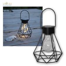 LED Solar Tischleuchte Glühbirne Tisch-Laterne Retro Leuchte für Garten & Balkon