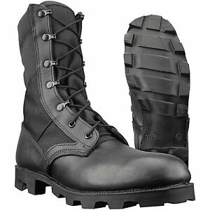 Genuine British U.S. Army Issue Wellco Jungle Combat Leather Boots Size 11 45 M