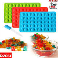 3PACK 150 Cavity Silicone Gummy Bear Candy Chocolate Jelly Ice Cube Mold Mould K