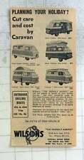 1959 Wilsons The Friendly Agents Brixton Motorised Caravans