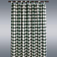 Landhaus-Schlaufenschal Karo mit Edelweiß grün-weiß-kariert Vorhang 8 Schlaufen