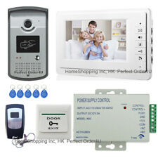 "Wired 7"" Video Door Phone Intercom System Video Intercom+RFID Card Keypad Camera"