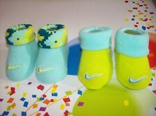 Nike Crib Shoes Booties Socks Infant Baby Boy 0-6 Mos Blue Yellow Camoflauge NIB