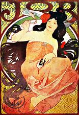 Alphonse Mucha DECO-JOB CARTINE-A3 Stampa Artistica Poster