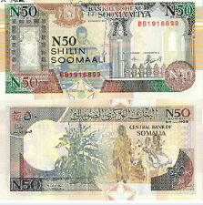 Somalia 50 Shillings 1991 year BrandNew Banknotes(Number of random)