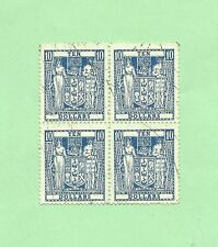 New Zealand AR-105 Block of 4 Used Postal-Fiscal Stamps