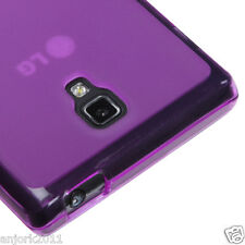 LG Optimus L9 T-Mobile P769 Soft Case Candy Skin Cover Transparent Purple