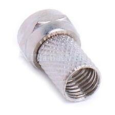 10pcs Screw-On F Connector Plug for RG6 RG6/U Coaxial Cable Easy to install