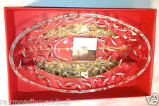 """NEW RCR Home & Table Laurus Crystal Oval Bowl Centerpiece Made in Italy 14"""" X 9"""""""