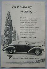 1954 Alvis TC.21.100 Original advert No.2