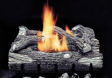 "Monessen Mountain Oak Vent Free 24"" Hard Ceramic Natural Gas Log Set New"
