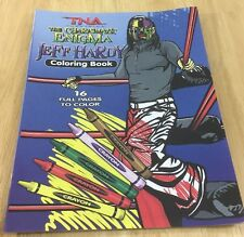 Jeff Hardy Coloring Book New Tna Westling Brother Nero Unused 2013 Rare wwe roh