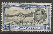 Ascensión SG42 1938 3d Negro & Azul ultramar P 13 1/2 Fine Used