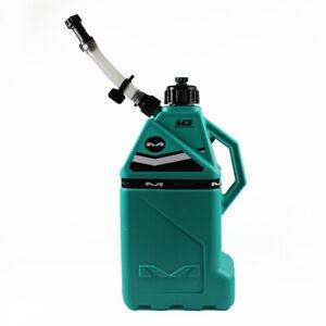 Matrix M3 Utility Fuel Race Can Aqua 4 Gallon Spout Quick Fill Petrol Jug