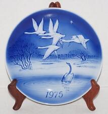 1975 Ugly Duckling Desiree Old Copenhagen Blue Denmark Plate Svend Jensen Swans