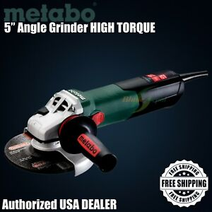 """METABO 5"""" Variable Speed Angle Grinder HIGH TORQUE / 2,800-9,600 Rpm / 13.5 Amp!"""