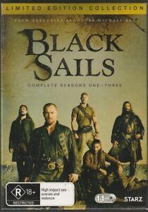Black Sails - Series 1 - 3 - Ltd Edition Collection -New/Sealed Genuine Region 4