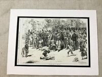 Antique Print Coldstream Guards Military Band Procession Victorian London 1870