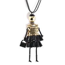 Cute Doll Pendant Charm Women Jewelry Necklace Handmade Fashion Sweater Chain