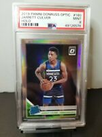 PSA 9 2019 Panini Donruss Optic Holo Prizm Jarrett Culver RC WOLVES ROOKIE