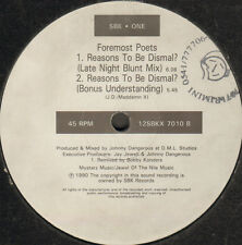 FOREMOST POETS - Reasons To Be Dismal? (Remixes) -1990 - sbk - 12SBKX 7010 - Uk