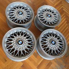 "BMW E30 Style 5 OEM 7x15"" ET24 alloy wheels rims genuine EUROWEAVES RARE BBS RZ"