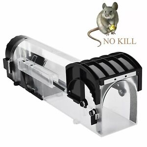 Reusable Smart Mouse Trap Humane Clear Plastic No Kill Rodents Catcher Rat Trap