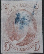 U.S. 1 1847 Used FVF 4 Margin Blue Ccl. (120619)