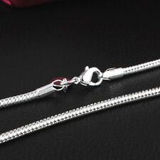 18INCH 925 Silver Snake Chain Necklaces 3MM Wide Chain fit Pendant Jewelry
