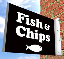 Fish and Chips SHOP SIGN, Aluminium Shop Sign for restaurant or takeaway