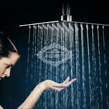 Square Stainless Steel Rain Shower Head Rainfall Home Bathroom Top Sprayer