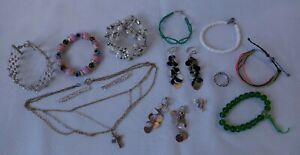 Lot Of Little Girls Costume Jewelry Dress Up *Clip-on Earrings* 17 Pieces