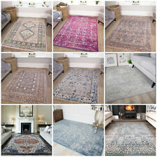 Traditional Kilim Rugs | Faded Boho Rug | Modern Distressed Living Room Rugs