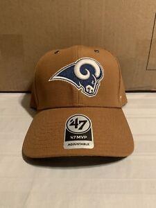 Los Angeles Rams NFL '47 Brand Carhartt Mens Brown MVP Adjustable Hat New