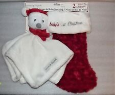NEW Blankets & and Beyond Babys Christmas Stocking & Security Nunu Blanket Set