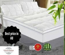 1000GSM Luxury Bamboo Mattress Topper   All Sizes   Breathable   Natural   Eco