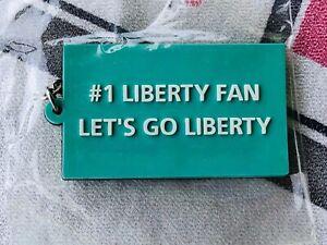 "#1 New York LIBERTY WNBA FAN ""Let's Go Liberty"" Keychain 3/4 x 2 1/2"" Basketball"