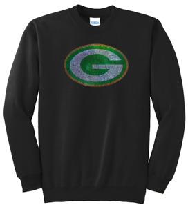 Women's Green Bay Packers Ladies Bling Sweatshirt Woman's S-XL