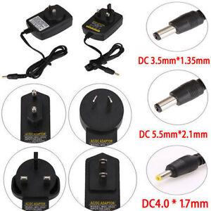 5V 9V 12V 1A 2A AC DC 3.5mm*1.35mm 5.5mm*2.5mm Power Supply Adapter AU UK EU US