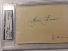 Jackie Jensen   Autograph  Govt PC  PSA DNA  Slabbed  Signed  Auto  1958