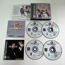 FINAL FANTASY VIII- Sony PlayStation 1 PS1  VIDEO GAME  Squaresoft   4-Disc  HTF