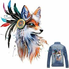 Fox Patches T-shirt Press Heat Transfer Sticker Washable Iron On Appliques