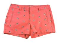 ana Womens Size 10 Twill Shorts Cotton Stretch Peach w Blue Birds Medium