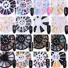 3D Nail Decoration Wheel Nail Art Tips Studs Gem Crystal Glitter Mix Rhinestones