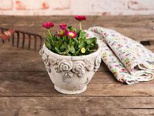 Vaso per piante rose 14.5 cm CEMENTO BEIGE da fiori modello vintage design
