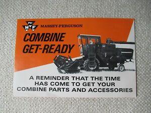 Massey Ferguson combine get ready service check list sheet brochure