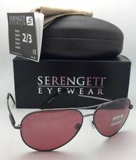 SERENGETI PHOTOCHROMIC POLARIZED Sunglasses Medium Aviator 8088 Gunmetal +Sedona